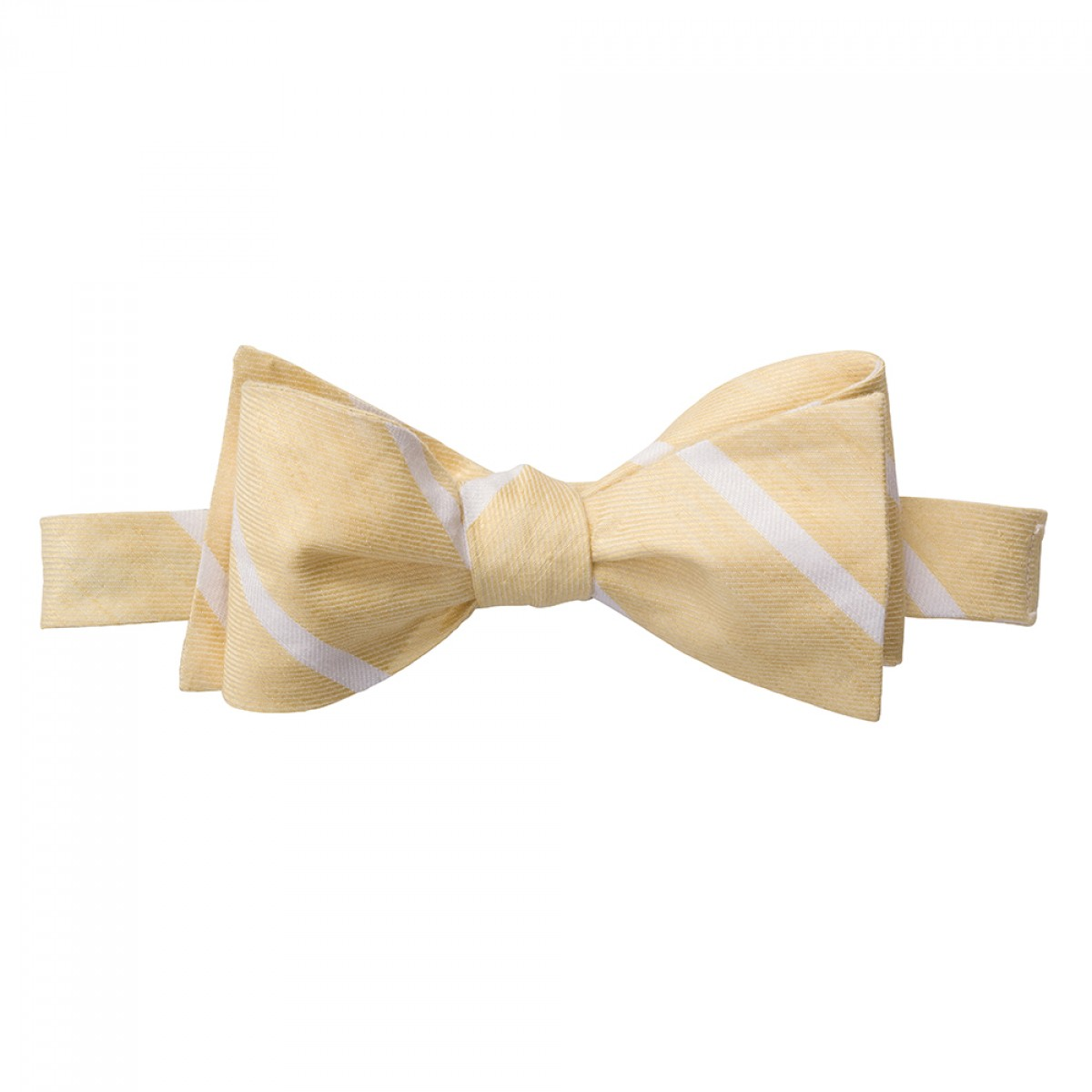 Linen Stripe Bow - Yellow